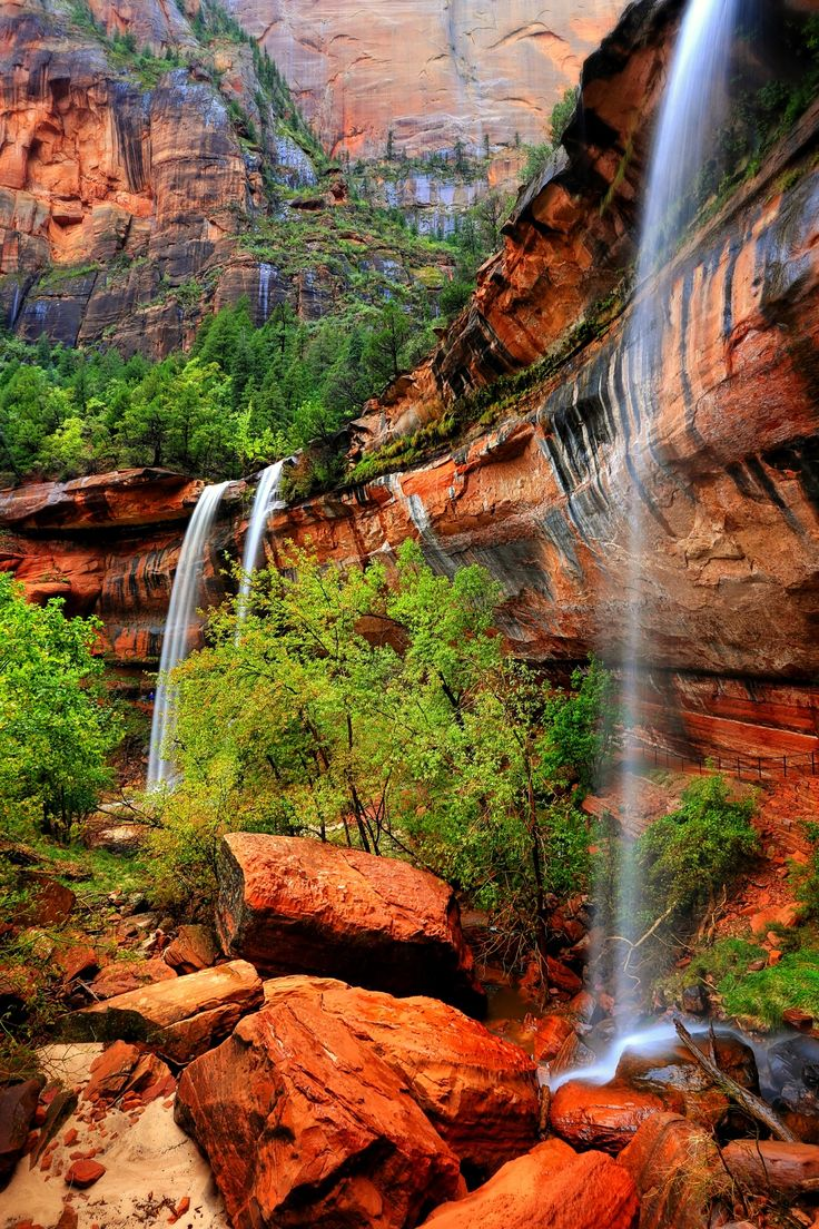White Noise Masquerade - Emerald Pools, Zion National Park, Utah by Sedona Hiker