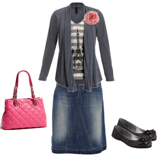 Love it!Style, Paris Theme Outfit, Clothing, Casual Modest Summer Outfit, Casual Modest Fashion Skirts, Cute Modest Skirts Outfit, Jeans Skirts, Denim Skirts, Modest Outfit