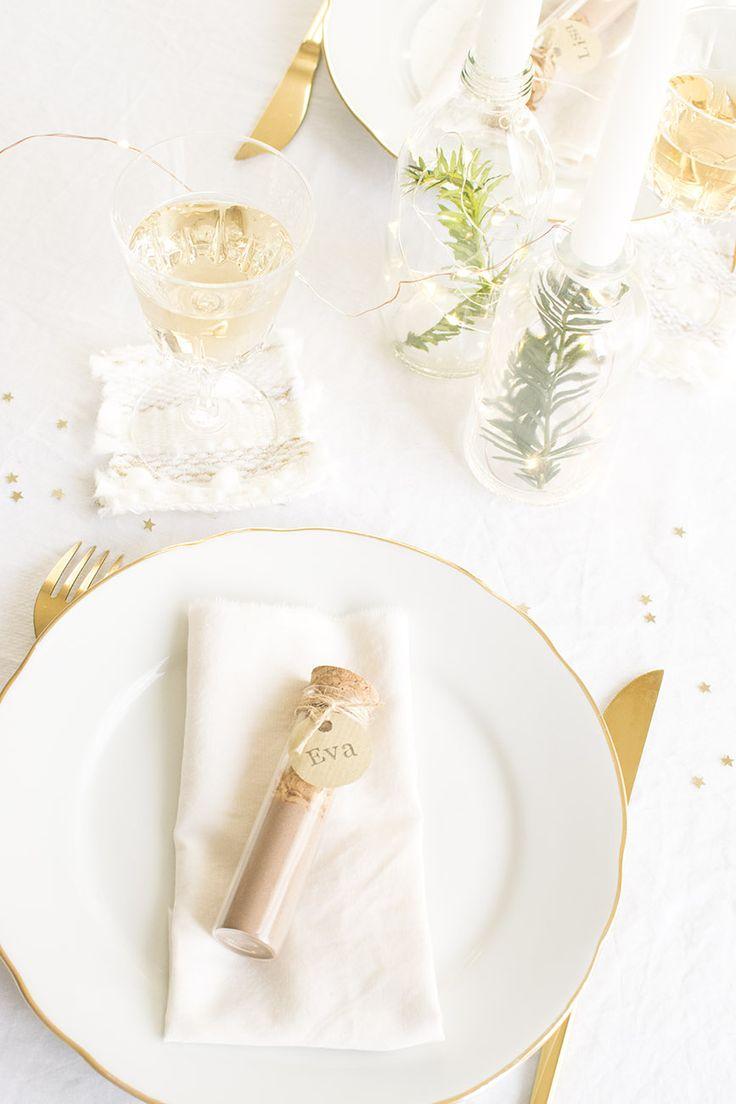 DIY cadeau invité : la fiole marque-place