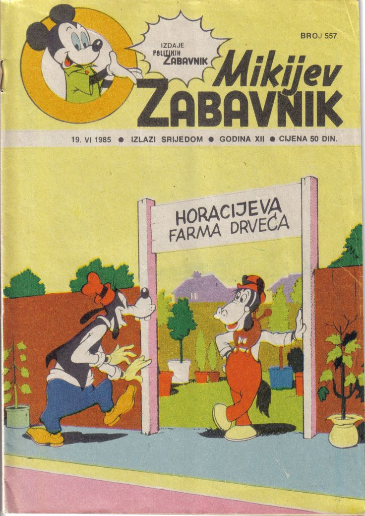Yugoslavia - Mikijev Zabavnik (Serbocroatian latin) Scanned image of comic book (© Disney) cover