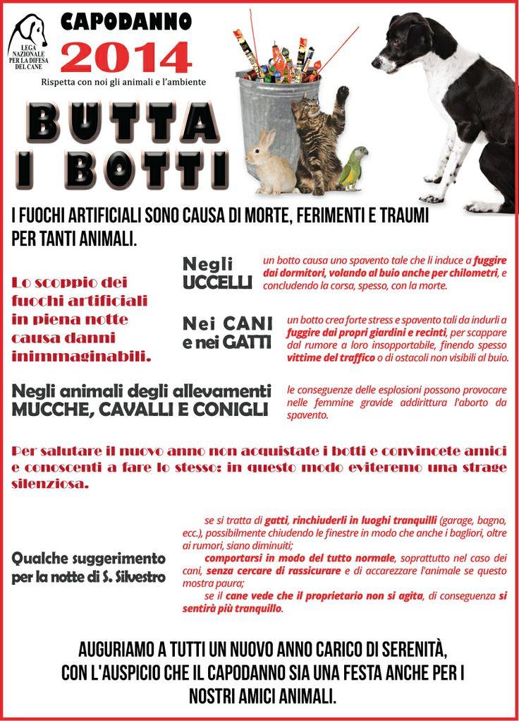 #buttaibotti - La #campagna della #LegadelCane per il #rispetto di #animali e #ambiente anche a #Capodanno