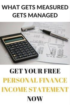free personal finance income statement