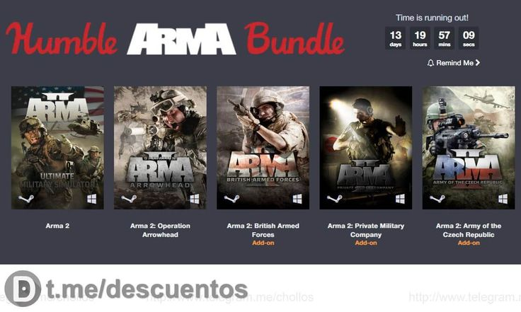 Humble Bundle ARMA para Steam desde 1 - http://ift.tt/2lvMiEK