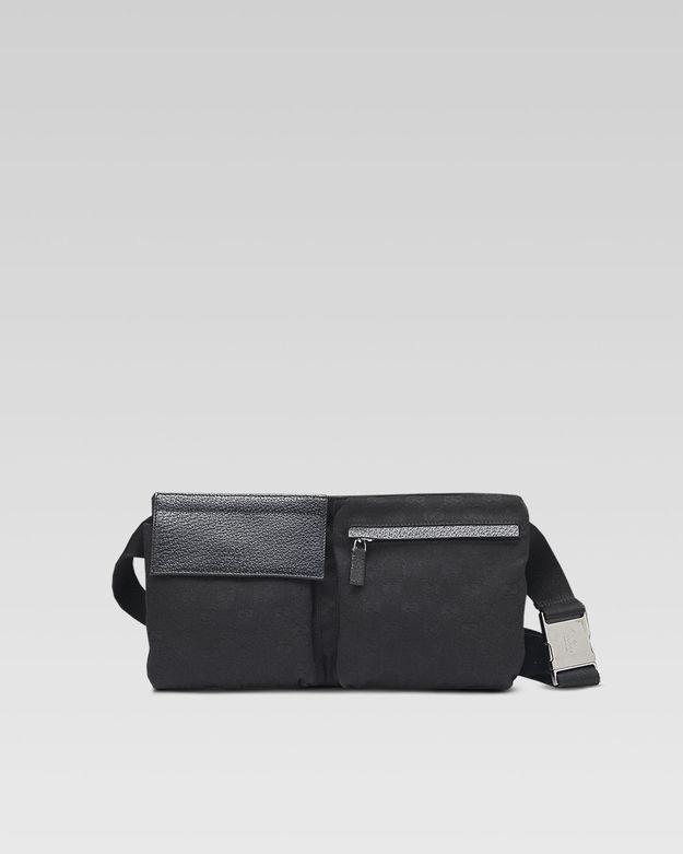 de4c8ff70abc Gucci Canvas Belt Bag in 2019 | Handbags and fanny packs | Bags, Black gucci  belt, Gucci