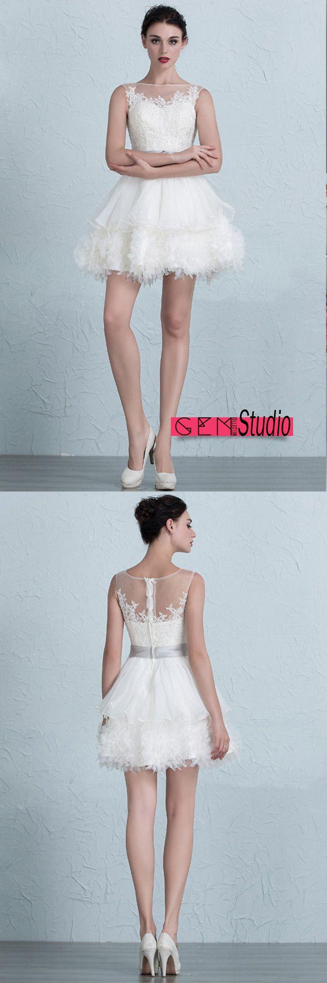 The 875 best Sweet & Short Wedding Dress images on Pinterest