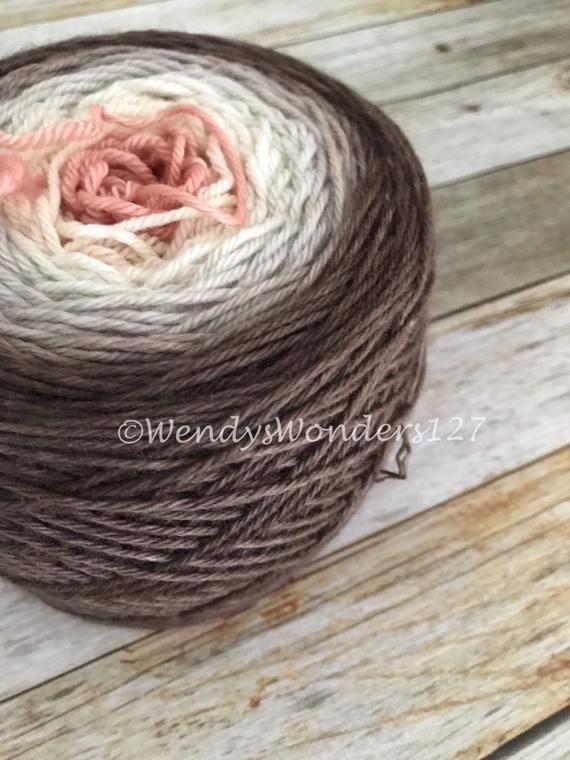 Hand Dyed Yarn, Gradient Yarn, Extra Large Skein, 250g, Yarn