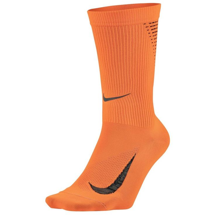 Nike Mens Womens 2.0 Elite Orange Lightweight Crew Running Socks M XL SX5192-803 #Nike #Athletic