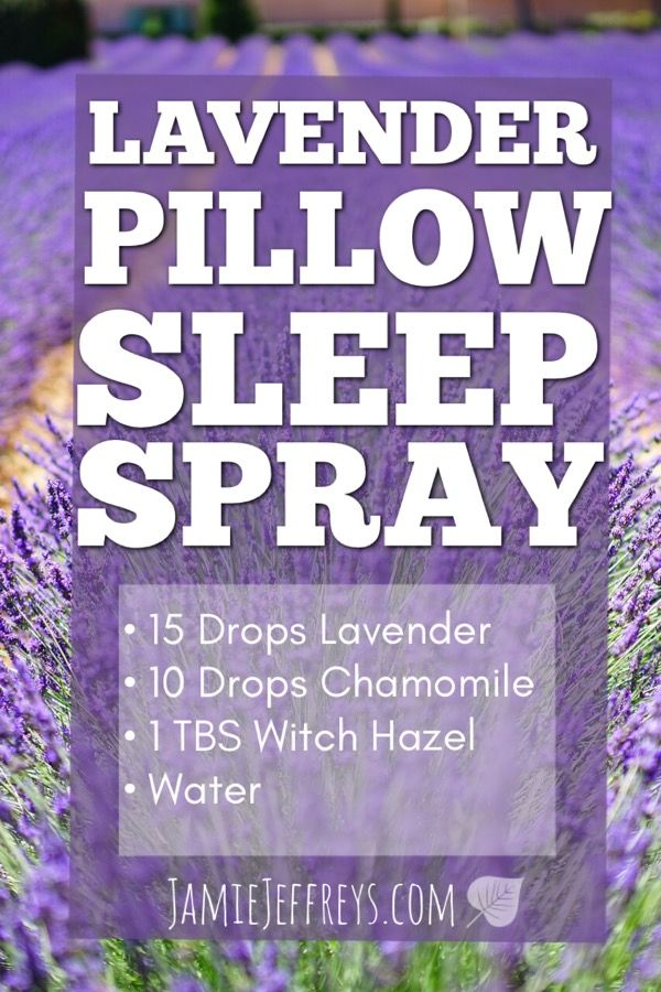 DIY Lavender Pillow Sleep Spray for better sleep and relaxation.