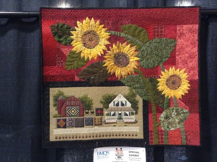 and addingtheleaves background the flowers motion on f stems quiltsocial quilting sunflower positioning leaves quilt quilts sa free