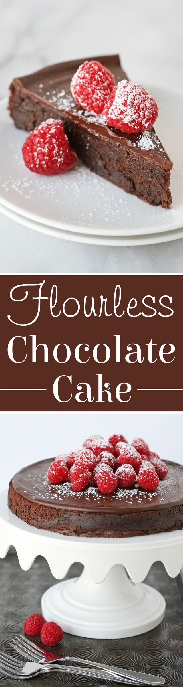 The ultimate chocolate treat! Rich & delicious Flourless Chocolate Cake! (valentines sweets delicious food)