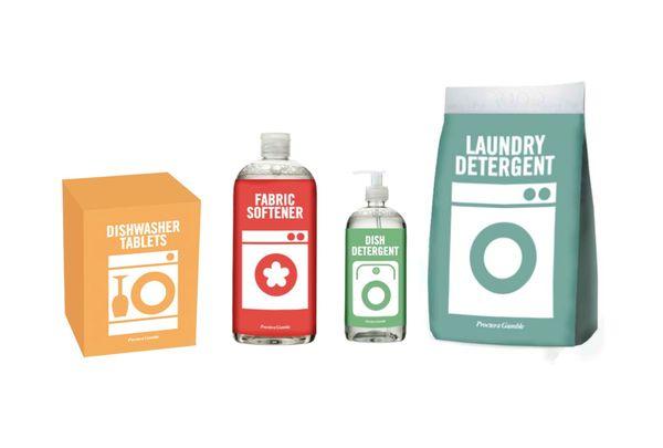 Detergent packaging by Sandra Mrkšić, via Behance