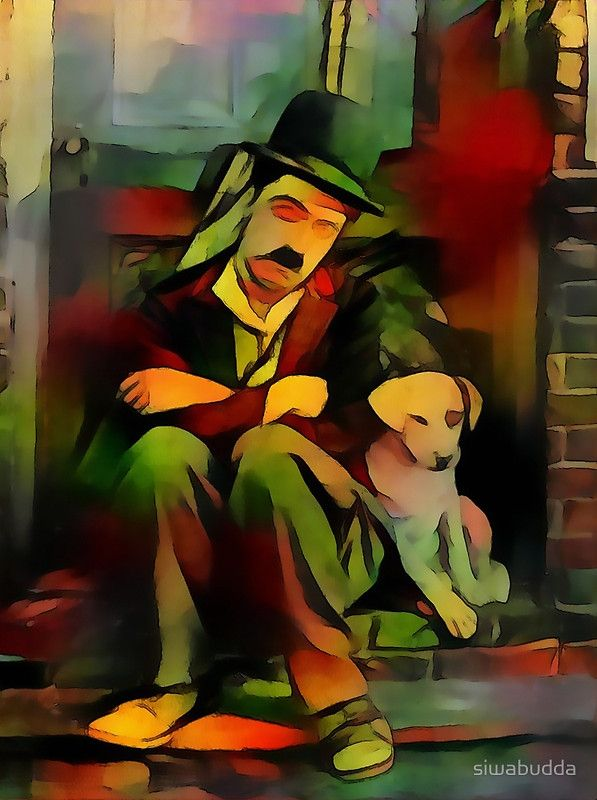 Chaplin with dog