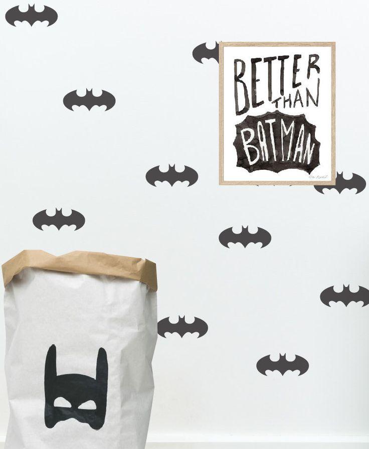 Batman wall decal, batman decal, batman wall art, batman mask, superhero wall art, batman nursery, batman wall decals, batman sticker by StudioPicco on Etsy https://www.etsy.com/il-en/listing/255584837/batman-wall-decal-batman-decal-batman