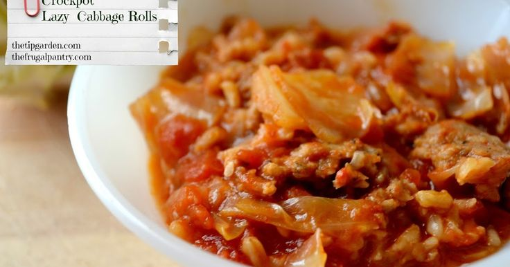 Crock pot Cabbage Rolls! Well almost! Here we have the wonderful taste of cabbage rolls, but in an easy to throw together slow cooker recip...
