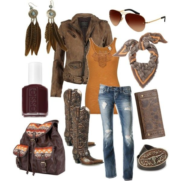 Biker Chick, created by sweetsummersunshine on Polyvore