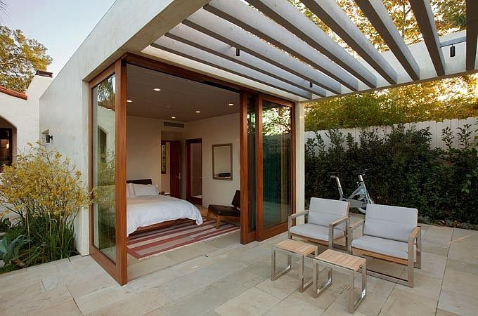Bedroom extensions to garden, it's chic and useful.  Malibu House by Dutton Architects | Home Adore
