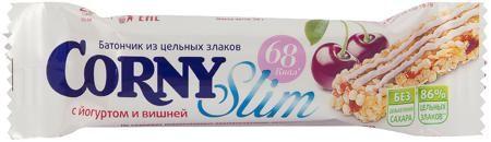 Schwartau Corny Slim злаковый с йогуртом и вишней 20  — 39р. --- Батончик Schwartau Corny Slim злаковый с йогуртом и вишней 20 г. Вкуснейший батончик из цельных злаков с йогуртом и вишней Corny Slim отлично подойдет как дополнение к обеденному перекусу в школе. Благодаря полезным компонентам, из которых сделан батончик, перекус является не только сытным, но и полезным для физической и умственной подзарядки. Батончик богат витаминами, минералами, аминокислотами, растительными жирами и при…