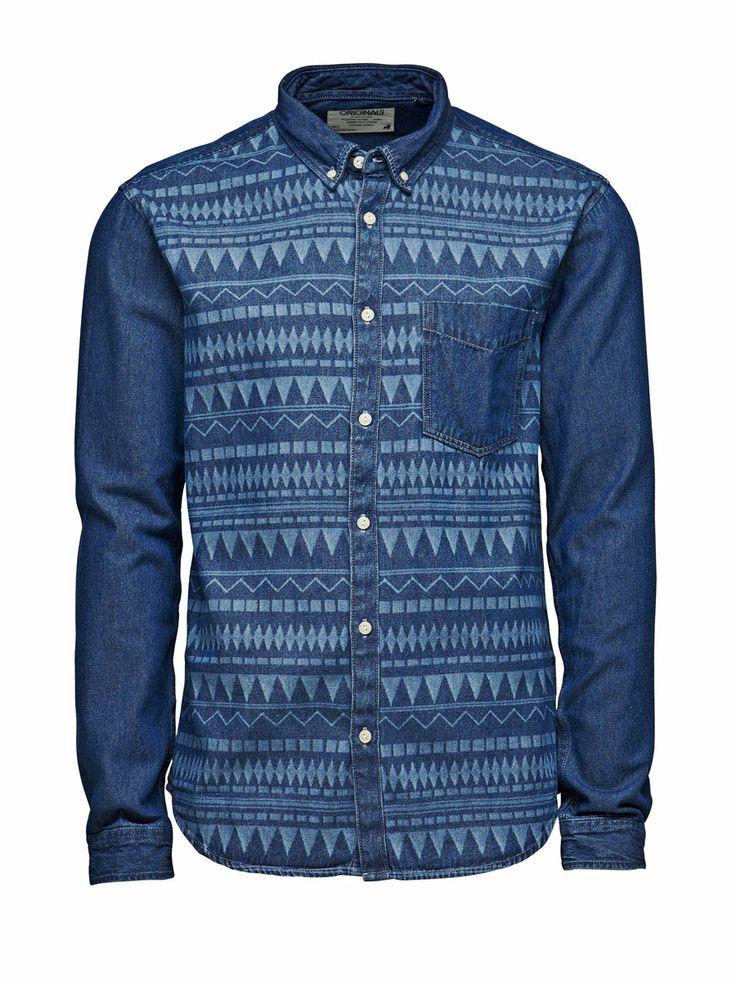 Flon Shirt, Dark Blue Denim, large