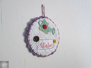 Crocheted wall decor