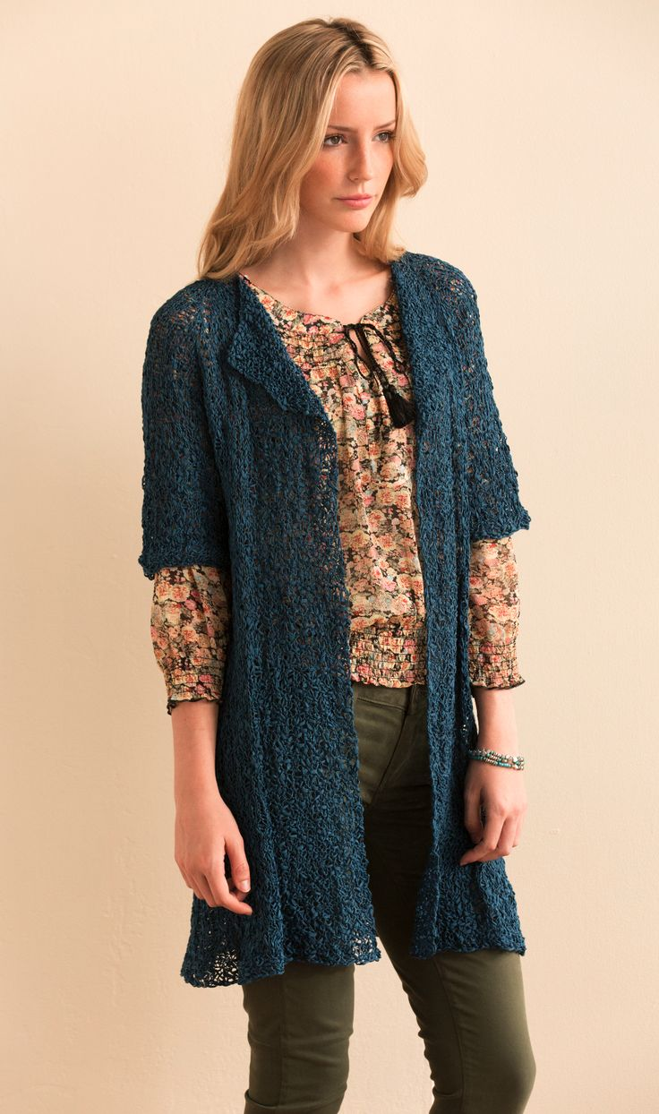 Duster Jacket Knitting Pattern : 17 Best images about Crochet - Dusters on Pinterest Jackets for women, Card...