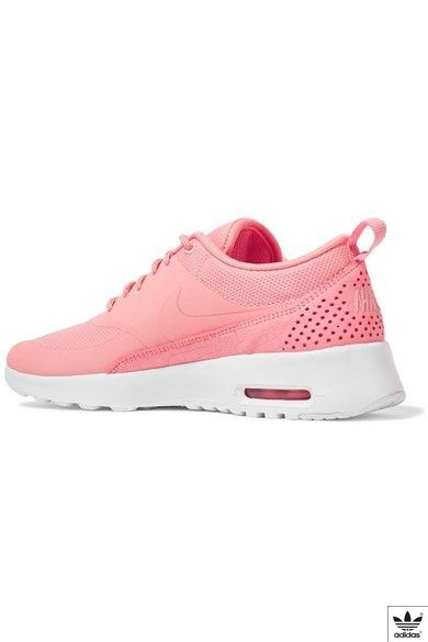 new arrivals c850e fccf7 Nike - Air Max Thea Croc-effect Leather-trimmed Coated Mesh Sneakers - Coral  - US