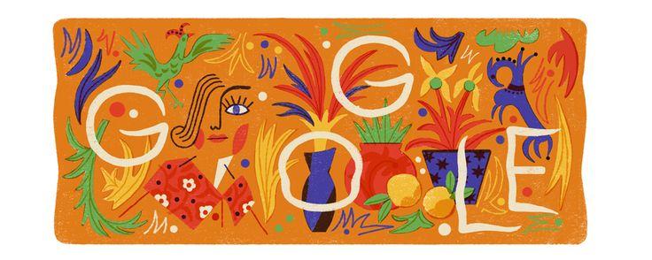 Natalia Goncharova's 136th Birthday - 7-3-17  #GoogleDoodle