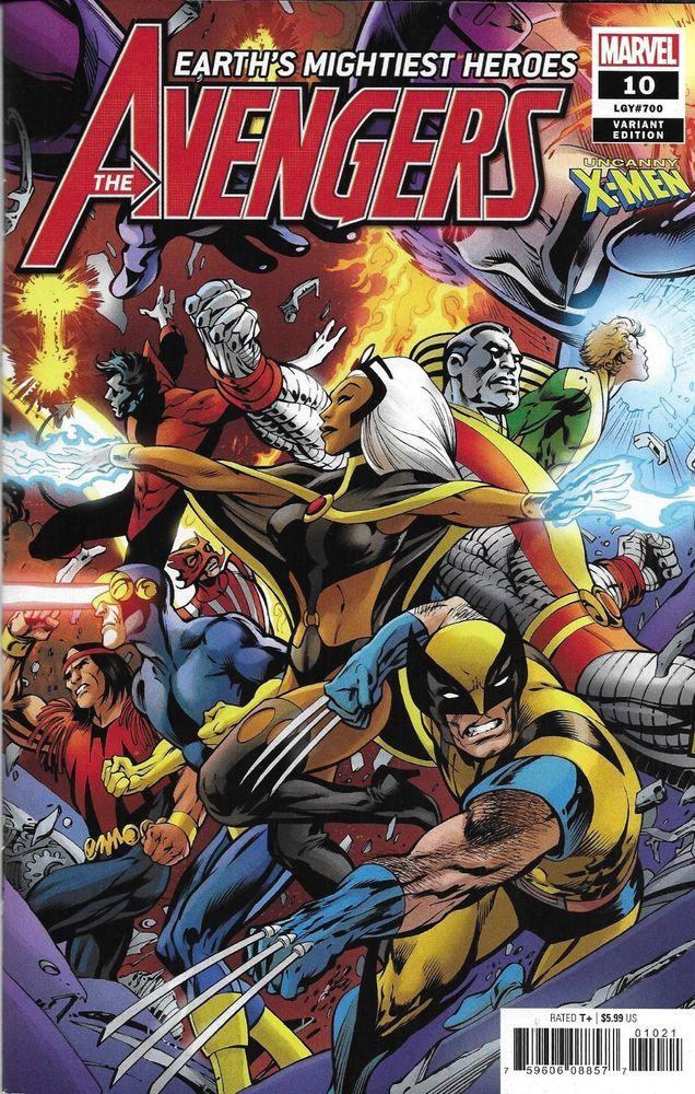 Avengers comic issue 10 limited uncanny x men davis variant modern age 2019 imperial merchant - Mechant avenger ...