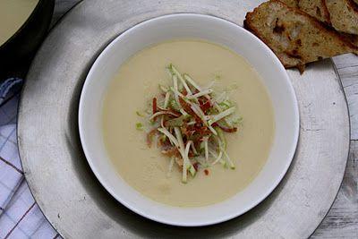 Mat På Bordet | Selllerirot suppe med spekeskinke og eple