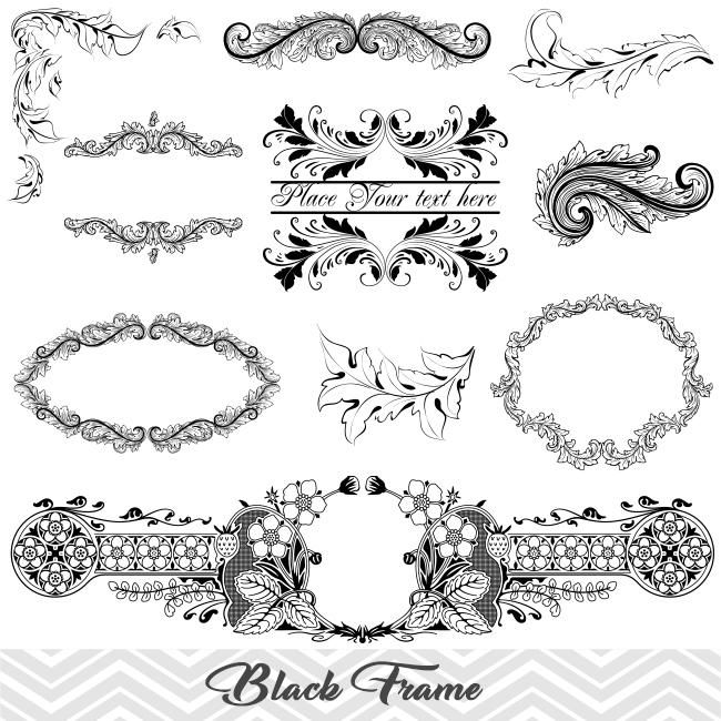 Black Frame Border Clipart Flourish Swirl Frame Clip Art Scrapbook Embellishment Decor 00012 Clip Art Ornament Drawing Frame Clipart