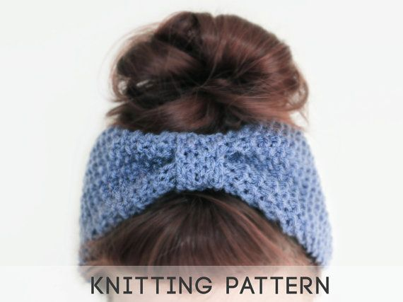 Knitted Headband With Bow Pattern : 1000+ images about Knitting on Pinterest Bow headbands, Grey and Cross stit...