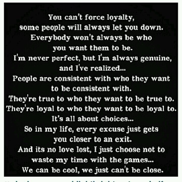 Can you define what is love and loyalty for you?