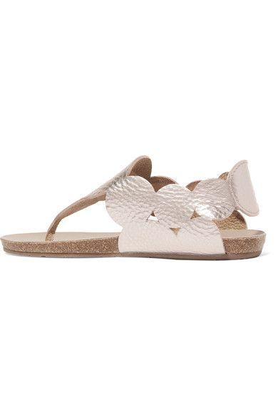 Pedro Garcia - Jamee Metallic Textured-leather Sandals - IT37.5
