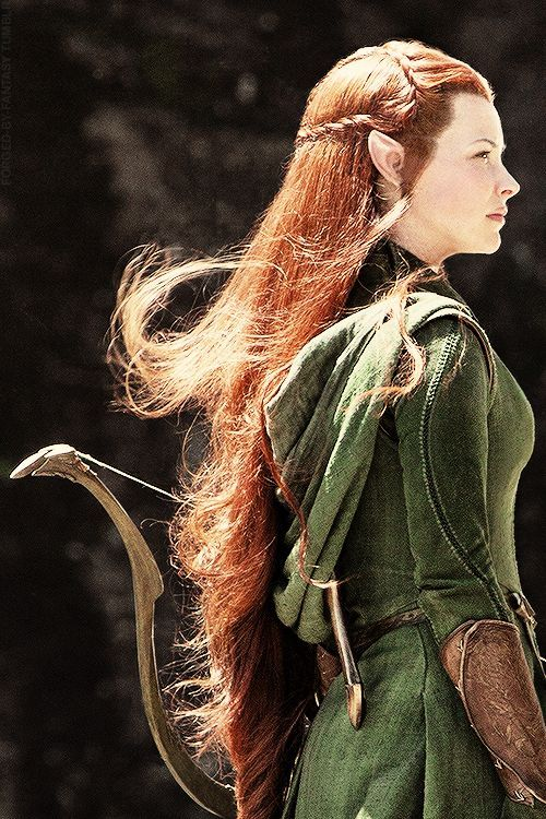 Tauriel. The elves just keep getting hotter, don't they? And they've been hot since Legolas.