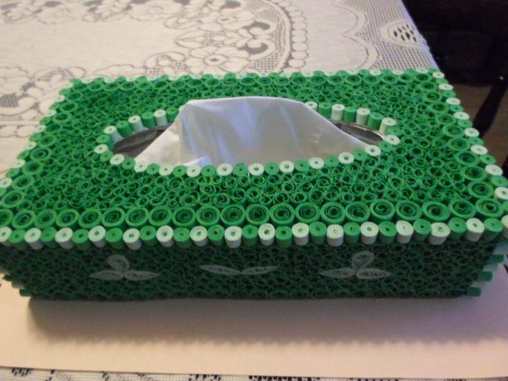 Quilling ♣ krabička na ubrousky