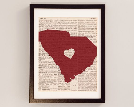 University of South Carolina Dictionary Print  by DictionArt, $9.00