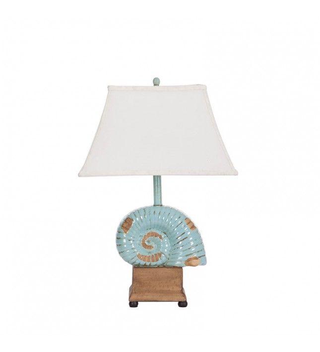 Loş bir ışıkta, rahat koltuğunuzda otururken sahile vuran dalgaların sesini duymak ne güzel olurdu değil mi? Öyleyse sizin evinizde de deniz kabuğu figürlü bir masa lambası olmalı!