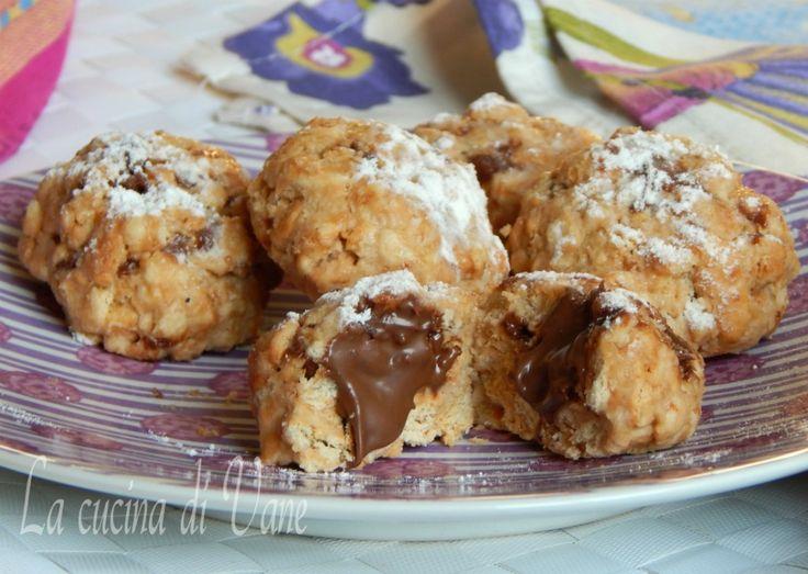 biscotti senza cottura yogurt e nutella