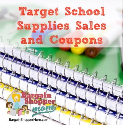 Target School Supplies Sale and Coupons - Week of July 21