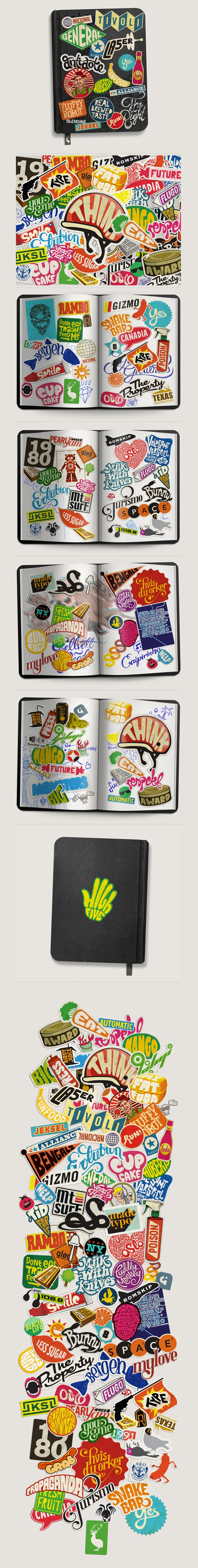 Sticker Typography, Mats Ottdal