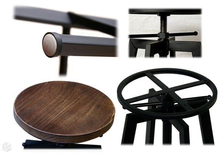 Tabouret Industriel Design Luxe Vintage Réglable Ameublement Paris - leboncoin.fr