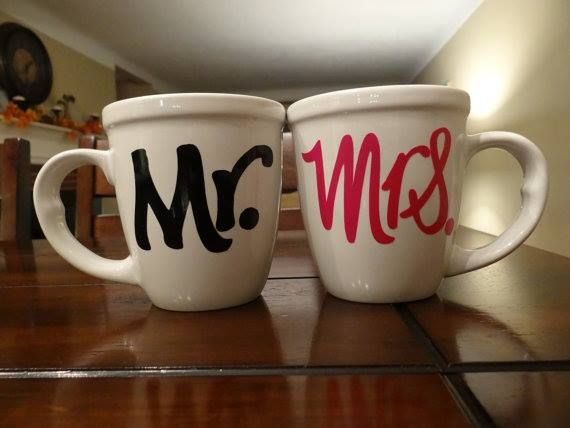 """Mr & Mrs. Coffee Mugs"""