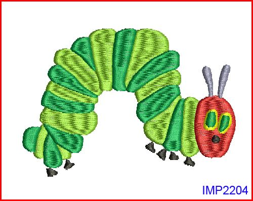 Very Hungry Caterpillar Machine Embroidery Flaschatcom