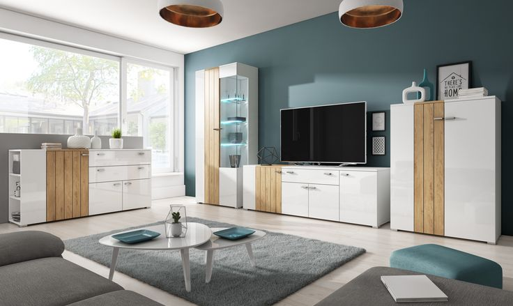 White furniture into the living room with the decorative belt of wood it is a great proposal exactly for you. Take advantage of the promotion to all sets of Helvetia furniture of the -10%. Białe meble do salonu z ozdobnym pasem drewna to świetna propozycja właśnie dla Ciebie. Skorzystaj z promocji na wszystkie zestawy mebli Helvetia -10%. #sale #whitefurniture #mirjan24 #helvetia #livingroom #home #sweethome #design