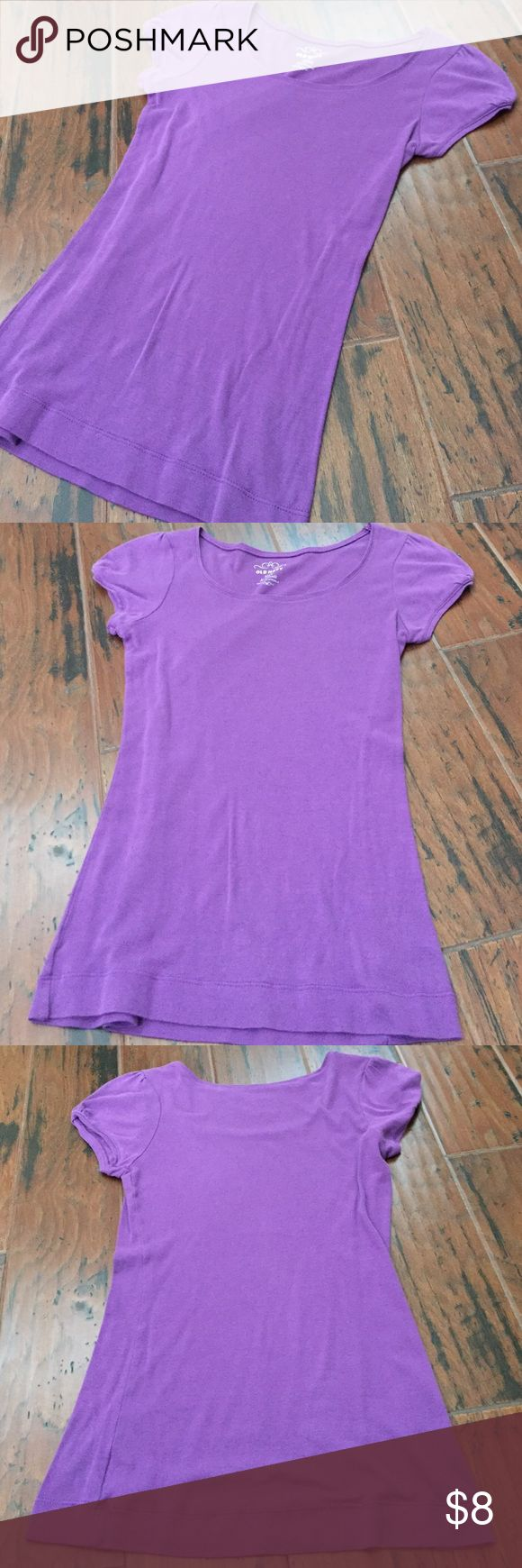 Purple tee Old navy purple tee in good condition Old Navy Tops Tees - Short Sleeve