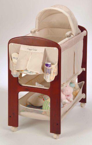 Baby Nursery Bassinet Crib Infant Bed Newborn Cradle Furniture Wood Basket New #Contours