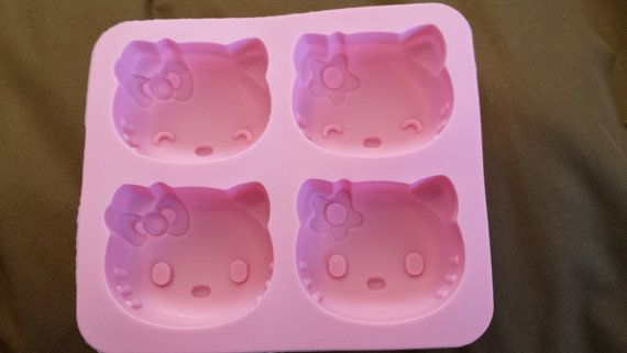 Large Hello Kitty mold - fondant mold - gum-paste mold - cake mold - polymer clay mold - resin mold