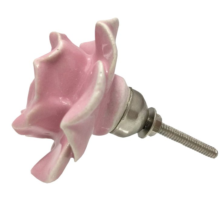 Set-di-6-Vintage-Floreale-Rose-In-Ceramica-Cassetto-Pomello-Maniglia-per-porta-armadio