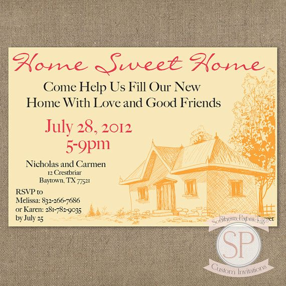37 best house warming invitations images on pinterest housewarming invitations house warming - House warming blessing ...