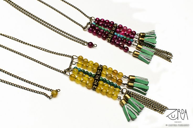 Collares Johari, diseñados por Zurda.  #Zurda #collar #necklace #bisutería #bijou #diseño #design #African #SS14