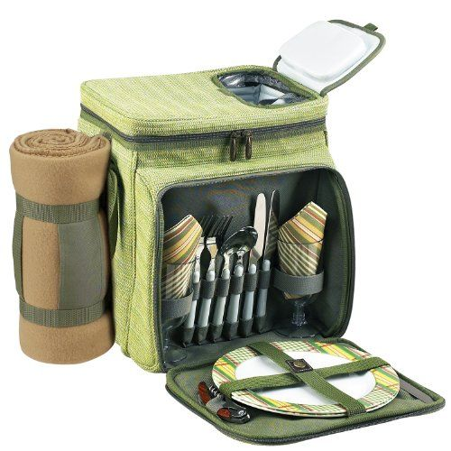 camping coolers at   -  hunting, camping accessories, camping insulated bags, coolers, camping gear, camp supplies -  Picnic at Ascot Hamptons Picnic Cooler for 2 with Blanket, Olive Tweed « zCamping.com